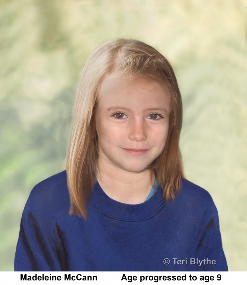 Madeleine Beth McCann: Age Progression Photos. Past and present