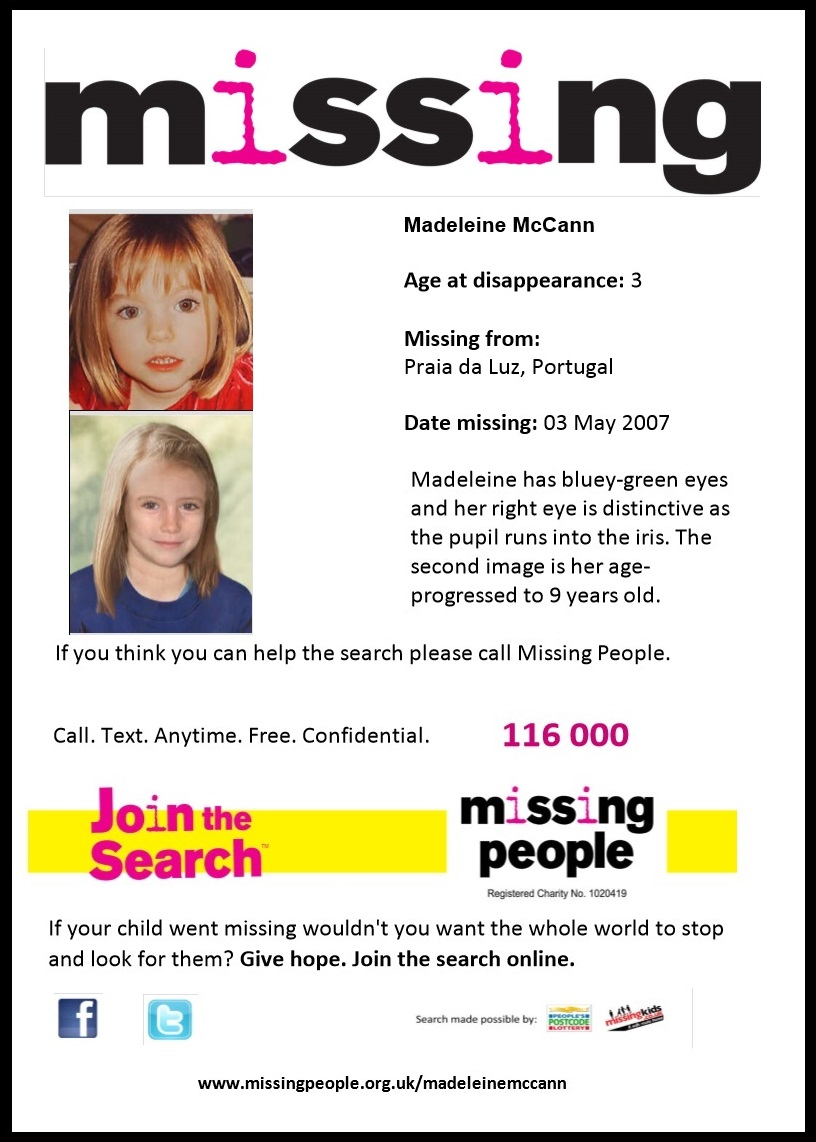 profile of the disappearance of madeleine mccann pdf