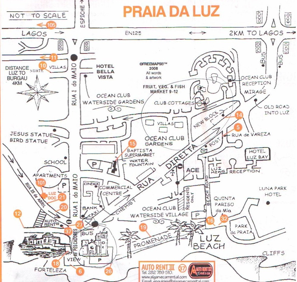 MAPS AND PLANS CONNECTED TO MADELEINE - Praia map