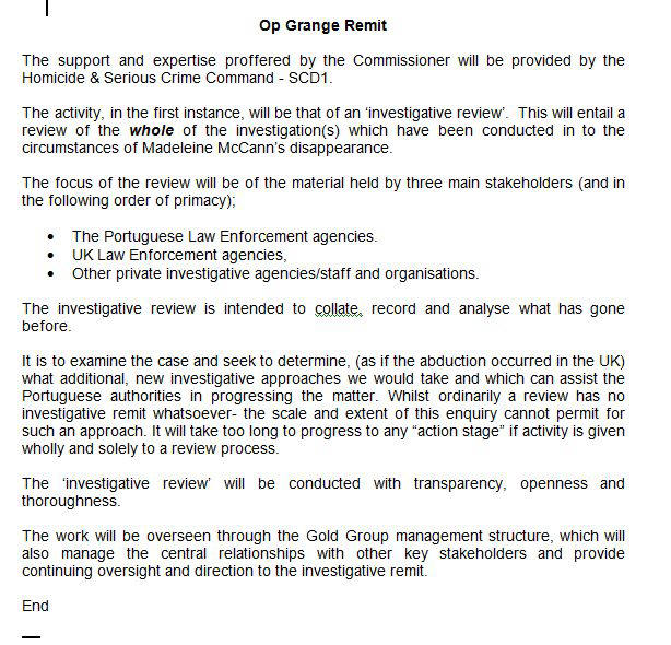 Important Official Documentation OpGrange
